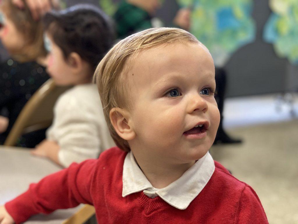 child attending social gathering