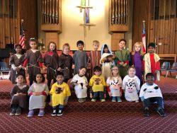 Children dressed for Christmas program
